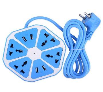 Multi-plug with 4 port USB