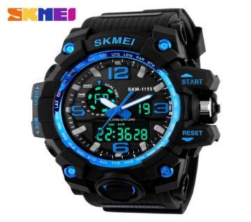 Skmei Analog Digital Watch Black Belt for Men(1155BU)-5MB4 2912 1A00  EVR1464