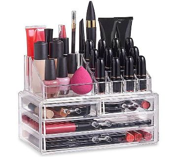 Transparent Cosmetic Organizer Box - Cosmetic Storage Box