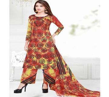Unstitched Cotton Salwar Kameez For Womens