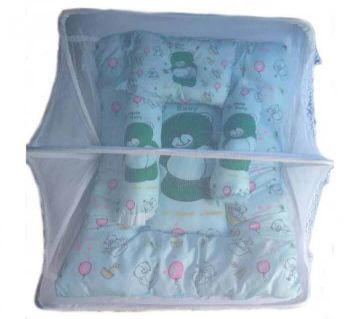 Baby Mosquito Net and Pillow - Multicolor