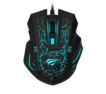 Wired Gaming Mouse HV-MS691-Cyan