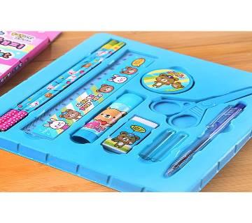 10pcs Kids Stationery Set For Girls and Boys-Sky Blue