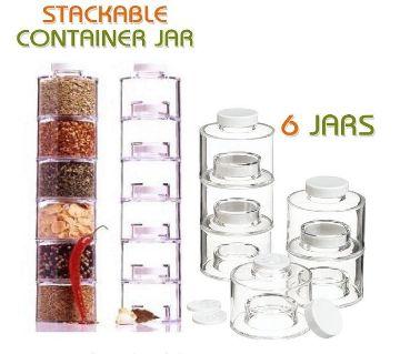 Spice Tower Jars 6pcs - Transparent