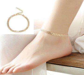 Golden Metal Anklet (Payel) for Women