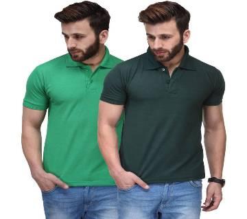 Mens short sleeve cotton polo Shirt combo (2 pcs)