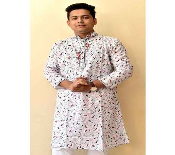 Cotton Printed Punjabi For MEN