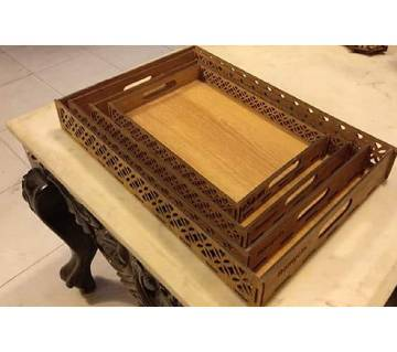 ORR Sell PoinT-Craft BD- Wooden made Tray Set-001