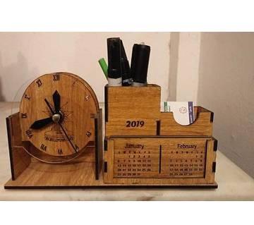 ORR Sell CraftB Wooden dsk pen Holder with Calendar-006