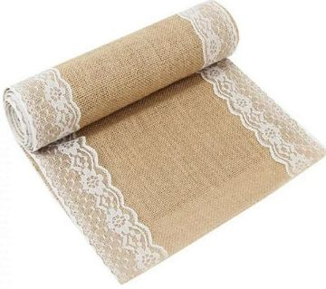 ORR Sell PoinT-e-shop, jute made dining table runner with 6 pcs set