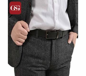Black PU Leather Formal Belt For Men