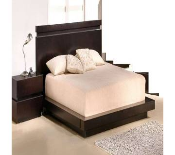 Masnun Furniture কাঠের বেড  Model-06 - উইথ সাইড টেবিল