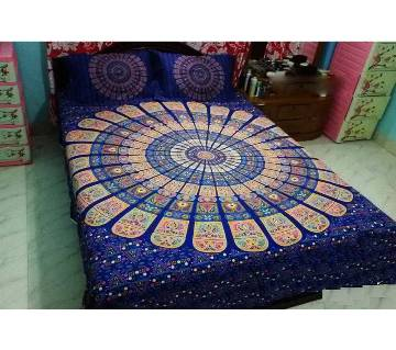 Cotton King Size Bed Cover Set Of 4pcs