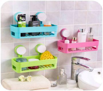 বাথরুম শেলফ স্কয়ার Set-3PCS Green Pink Blue