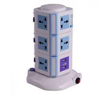 3 Layer Multiplug with 2 USB Ports