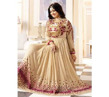 Semi Stitched Embroidery Gorgeous Party Gown - Copy