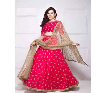 Unsitched Georgette Embroidery Party Lehenga - Copy