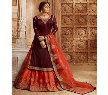 Indian Semi Stitched Lacha Lehenga - Original