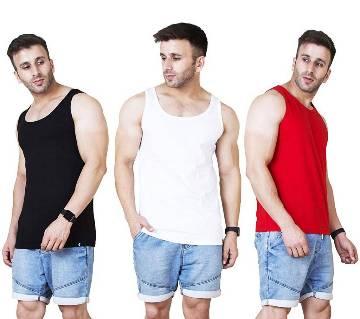 Mens Sleeveless T-Shirt  3 pcs Combo Pack