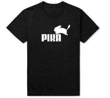 PIKA Mens রাউন্ড নেক টি-শার্ট