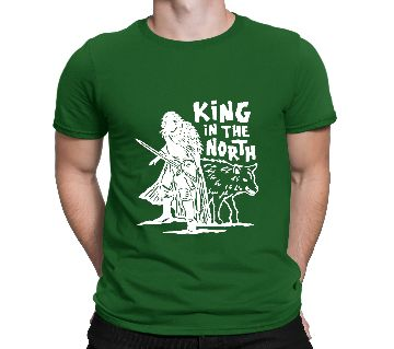 Mens King in The North Cotton Round Neck  t-shirt