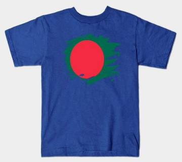 Bangladesh Paint Splatter Flag টি-শার্ট