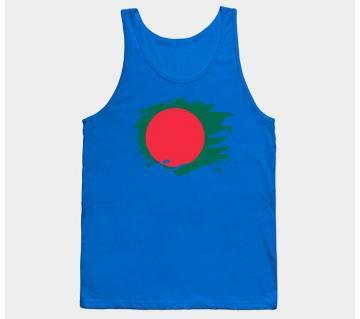 Bangladesh Paint Splatter Flag Sleeveless T-shirt