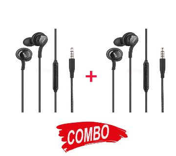 AKG Wired Earphones ( 2 Pcs COMBO)