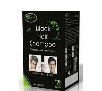 DEXE BLACK Hair Shampoo-25ml*10-China
