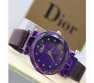 DIOR Magnet Ladies Watch-Purple