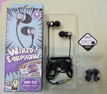 REMAX Wired Heavy Base In Ear Headphone RM-512