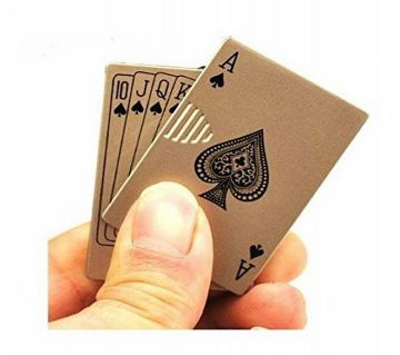 Playing card lighter