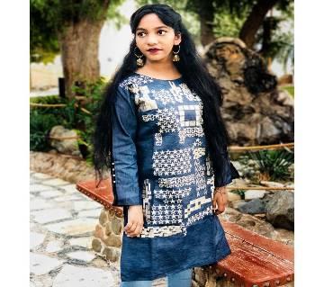 স্টিচড ডেনিম কুর্তি by SK Textile