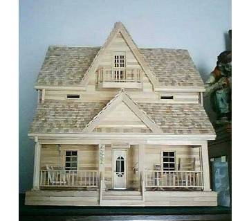 Wooden House Show Piece