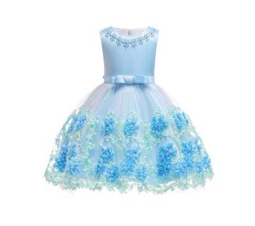 Formal Ruffle Lace party baby Girl dress
