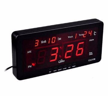 CASIO CX-2158 LED Digital LED Alarm Clock