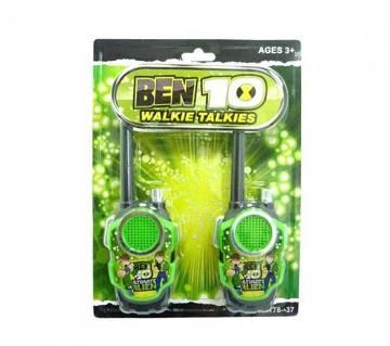 Plastic Ben 10 Walkie Talkies Toy - Green and Black