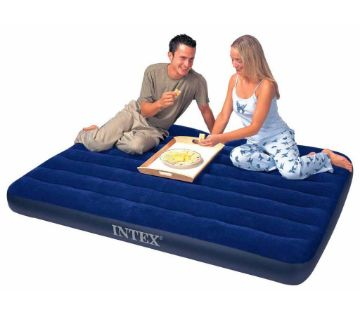 INTEX  Inflatable Double Air Bed With Free Pumper