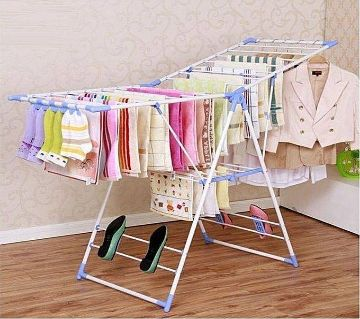 Stainless Steel Clothes Drying Racks - Silver
