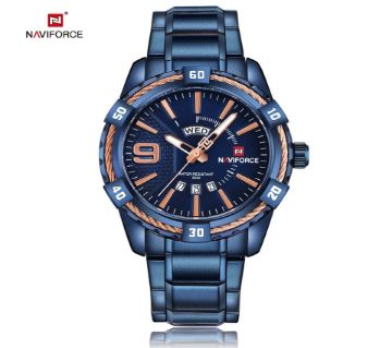 NAVIFORCE 9117 ROYAL BLUE Stainless Steel WATCH FOR MEN