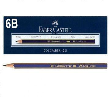 Faber Castell Gold 6B Pencil 12 Pcs