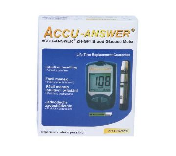 Accu-Answer blood Glucose Test Monitor whith 10 test strips