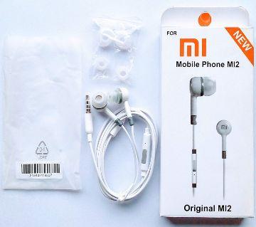 Mi2 best Earphone for All mobile-White & Black