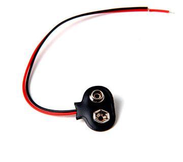 20 PCS 9V 9 Volt Battery Holder Clip Snap On Connector Diy Cable