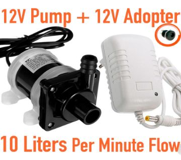 Submersible Pump with 12 volt Adapter