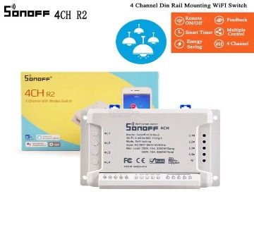 SONOFF 4 Channel R2 WiFi Smart Switch (10A, 2200W) Home Automation Module