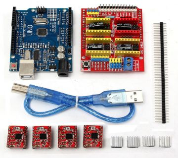 CNC Shield UNO-R3 Board 4xA4988 Driver Kit With Heat Sink For Arduino Engraver 3D Printer