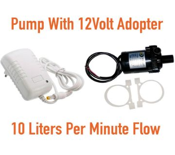 Submarcible Pump With DC 12V 2A Power Supply Adapter, AC 100-240V to DC 12V