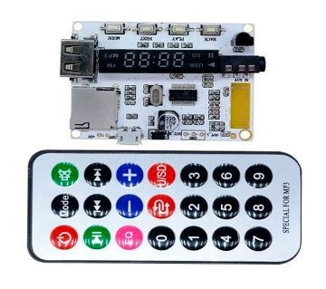 Wireless LED Digital Bluetooth Decoder Board Audio Sound Module With Infrared Remote Controller For Car MP3 FM TF Micro SD Card
