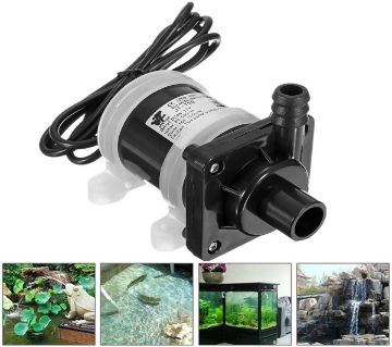 12 Volt DC Solar Powered Brushless Magnetic Submersible Water Pump DC 12V 700L/H Fish Pond Aquarium Smooth Operation Circulating Low Noise Safety